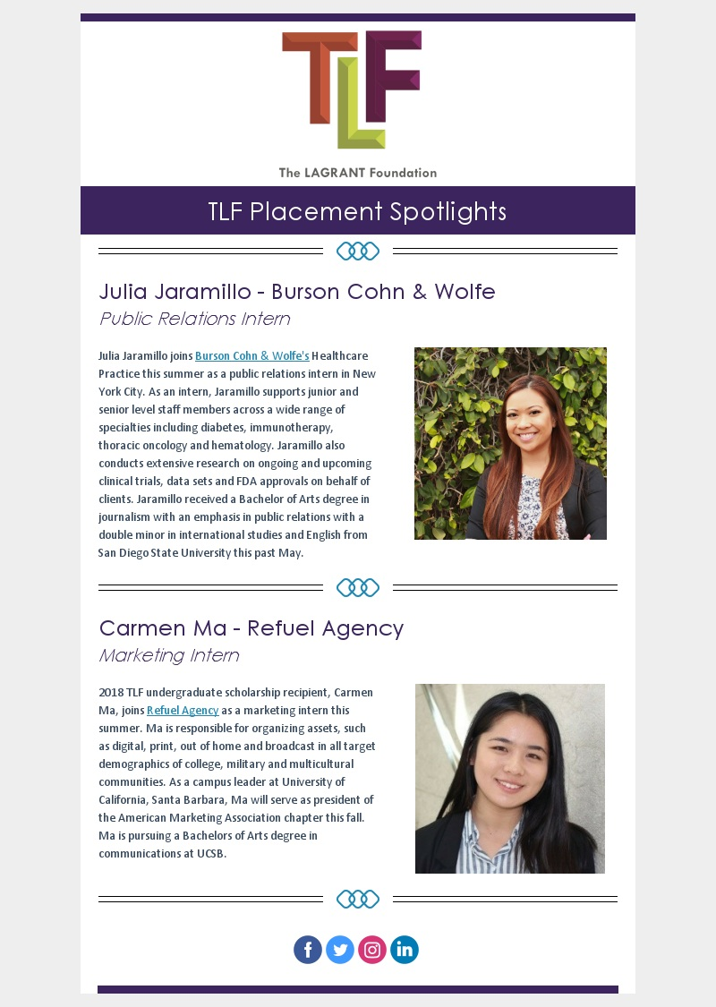 The LAGRANT Foundation - News and Updates